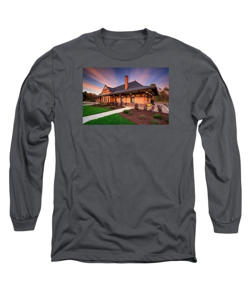 Old Train Station Long Sleeve T-Shirt by Emmanuel Panagiotakis