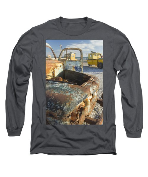 Old Truck In The Beach Long Sleeve T-Shirt