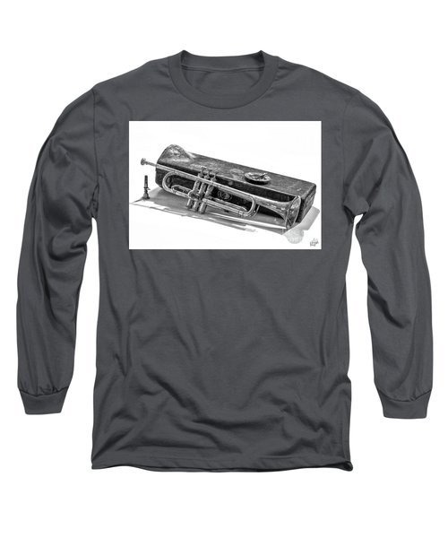 Long Sleeve T-Shirt featuring the photograph Old Trumpet by Walt Foegelle