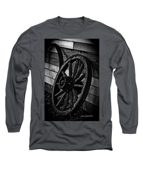 Old Wagon Wheel Long Sleeve T-Shirt by Joann Copeland-Paul