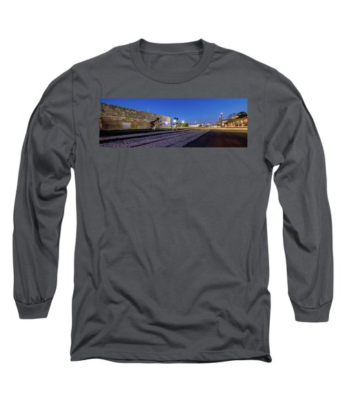 Old Wall Signage - San Antonio  Long Sleeve T-Shirt by Micah Goff