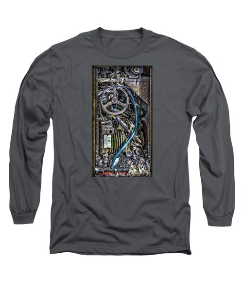 Old Washing Machine Works Long Sleeve T-Shirt by Walt Foegelle