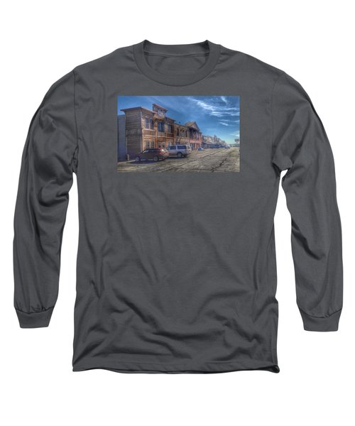 Long Sleeve T-Shirt featuring the photograph Old Western Town by Deborah Klubertanz