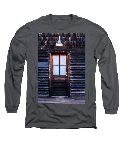 Old Wood Door And Light Long Sleeve T-Shirt by Terry DeLuco