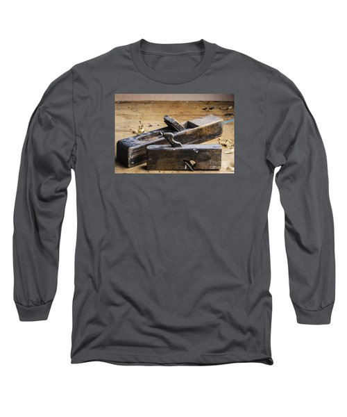 Old Wooden Planes Long Sleeve T-Shirt by Trevor Chriss