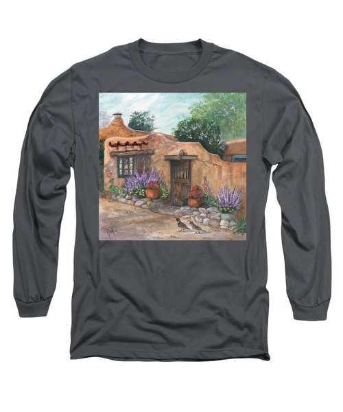 Long Sleeve T-Shirt featuring the painting Old Adobe Cottage by Marilyn Smith
