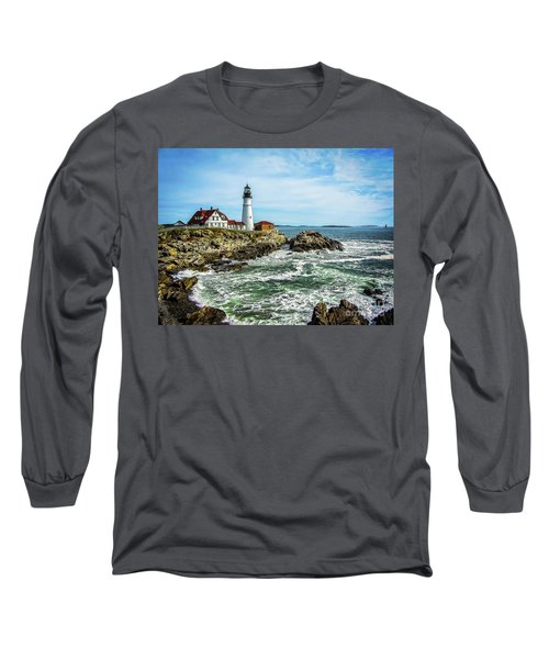 Oldest Lighthouse In Maine Long Sleeve T-Shirt