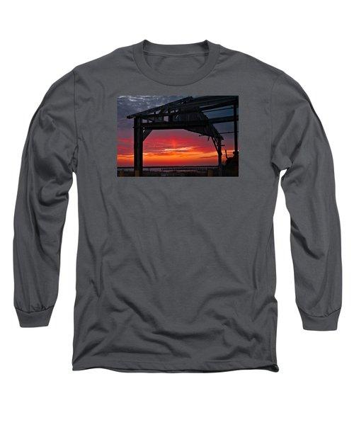 Ole Shipyard Framing Long Sleeve T-Shirt by Laura Ragland