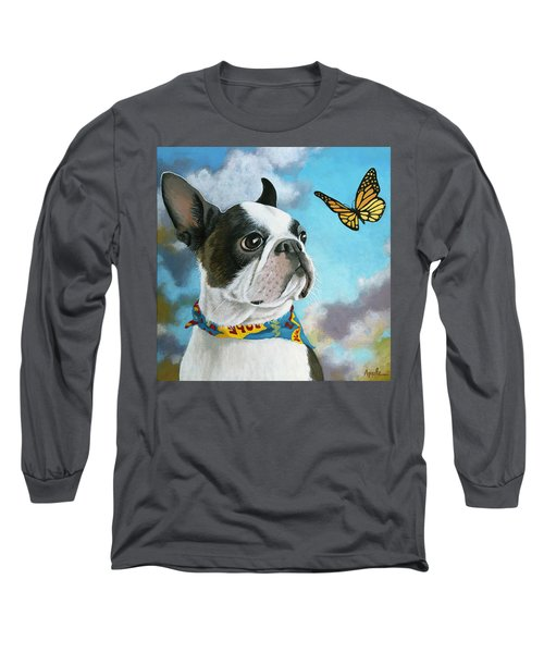 Oliver - Dog Pet Portrait Long Sleeve T-Shirt