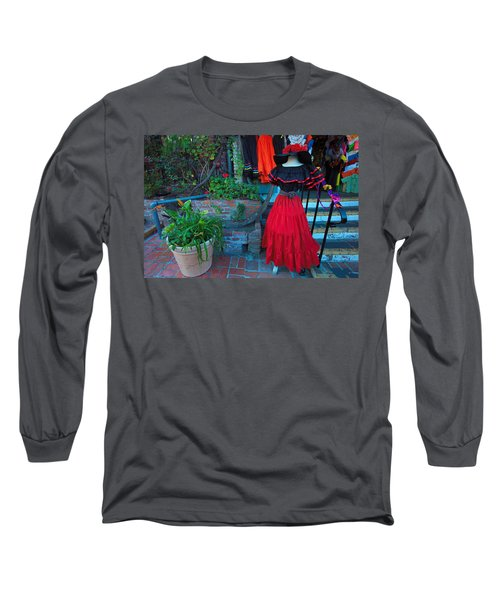 Olvera Street Los Angeles Long Sleeve T-Shirt by Ram Vasudev