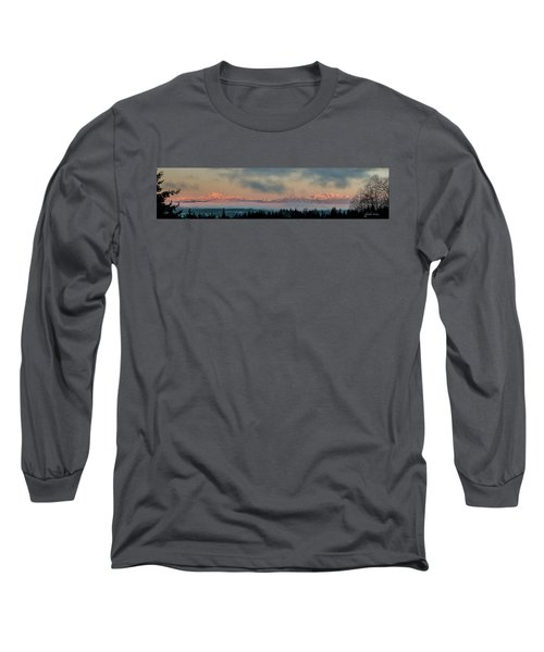 Olympic Mountains At Dawn.1 Long Sleeve T-Shirt