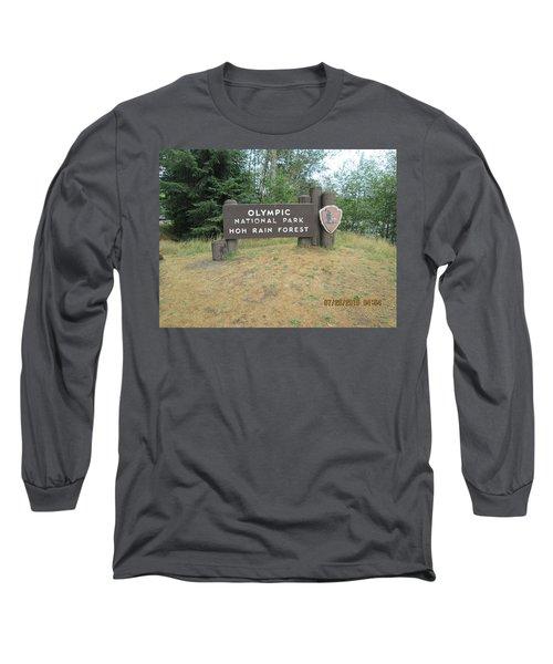 Olympic Park Sign Long Sleeve T-Shirt by Tony Mathews