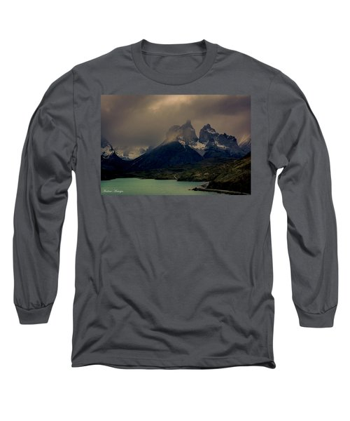 Long Sleeve T-Shirt featuring the photograph Ominous Peaks by Andrew Matwijec