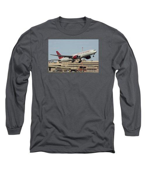 Omni Air International Boeing 777-222 N927ax Phoenix Sky Harbor January 3 2015 Long Sleeve T-Shirt by Brian Lockett