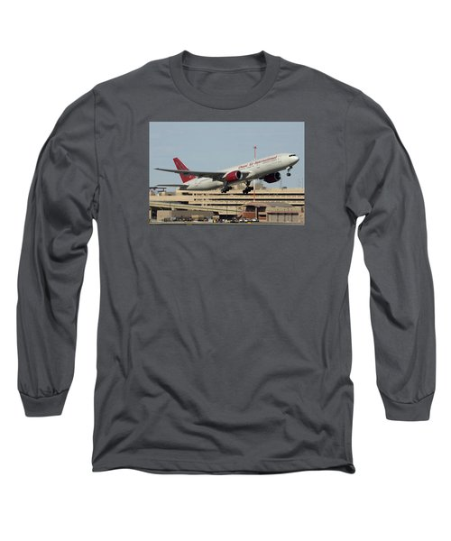 Omni Air International Boeing 777-222 N927ax Phoenix Sky Harbor January 3 2015 Long Sleeve T-Shirt