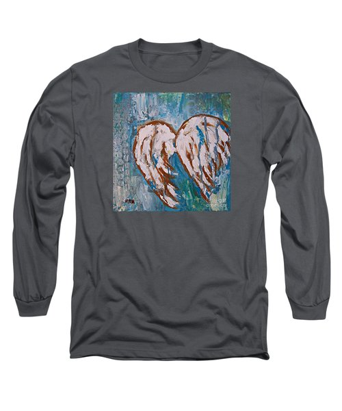 On Angel Wings Long Sleeve T-Shirt