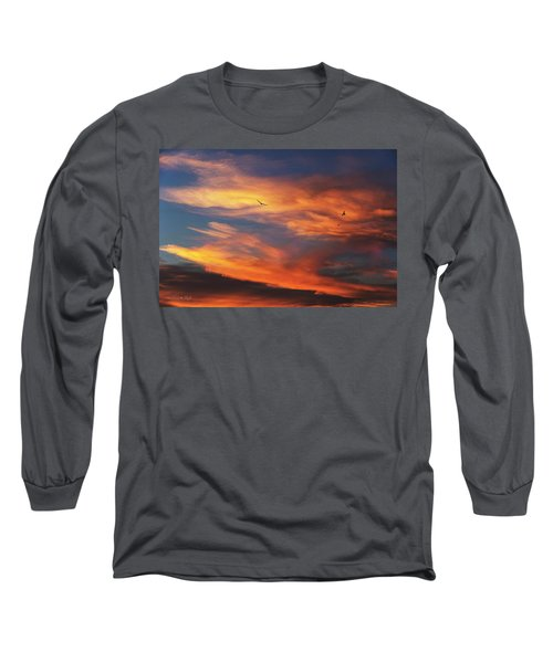 Long Sleeve T-Shirt featuring the photograph On Eagle's Wings by Karen Slagle