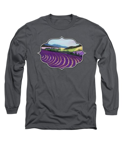 On Lavender Trail Long Sleeve T-Shirt