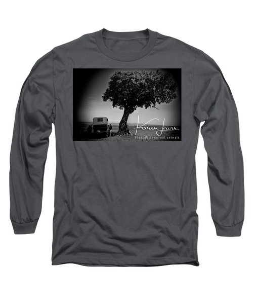 Long Sleeve T-Shirt featuring the photograph On Safari by Karen Lewis