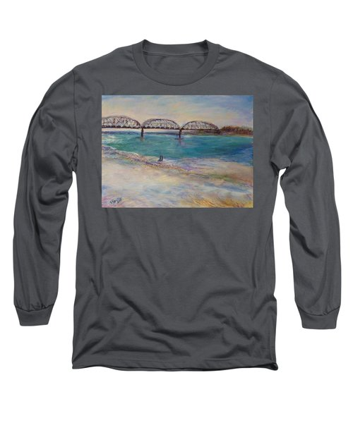 On The Bank Long Sleeve T-Shirt by Helen Campbell