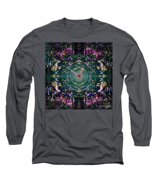 On The Clock Of Rose Garden Long Sleeve T-Shirt