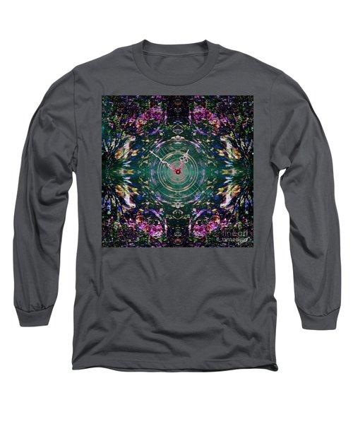 On The Clock Of Rose Garden Long Sleeve T-Shirt