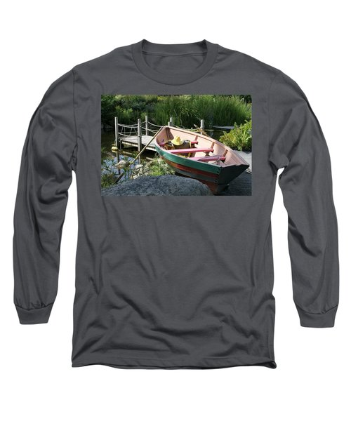 On The Dock Long Sleeve T-Shirt by Lois Lepisto
