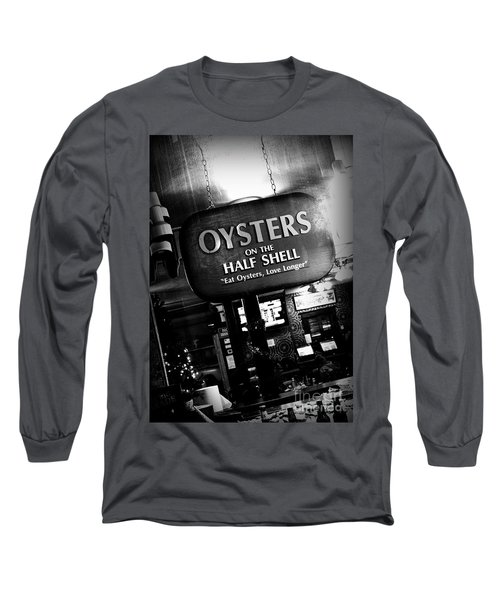 On The Half Shell - Bw Long Sleeve T-Shirt