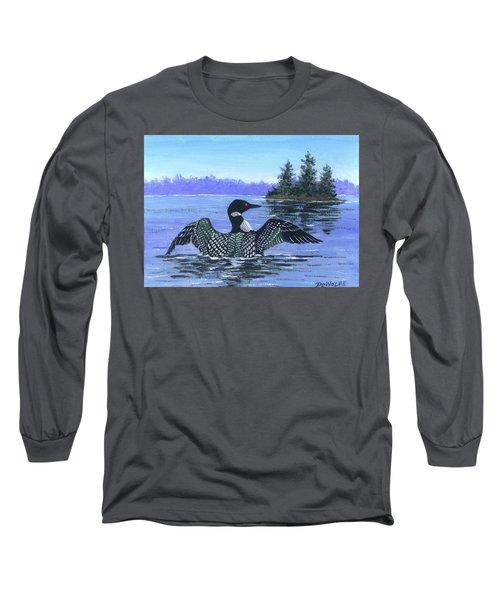 On The Lake Sketch Long Sleeve T-Shirt