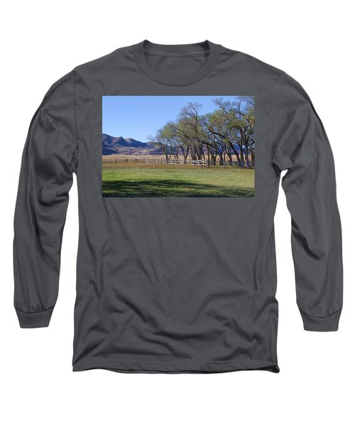 Long Sleeve T-Shirt featuring the photograph On The Ranch by Ely Arsha
