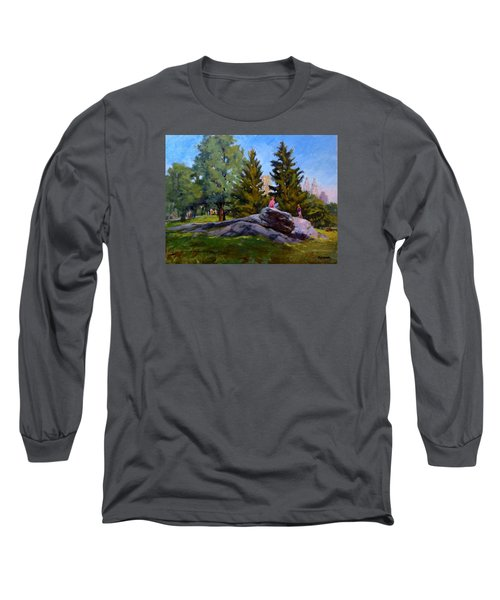 On The Rocks In Central Park Long Sleeve T-Shirt