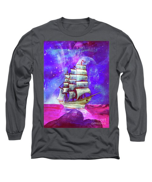 On The Sea At Sunset Long Sleeve T-Shirt