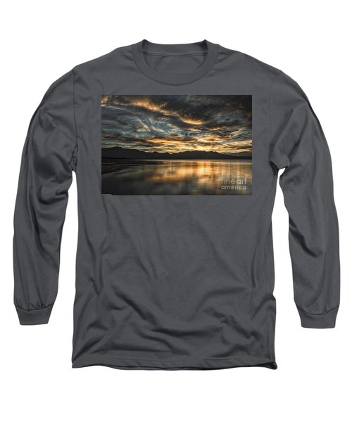 On The Wings Of The Night Long Sleeve T-Shirt by Mitch Shindelbower