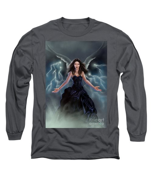 On The Wings Of The Storm Long Sleeve T-Shirt by Amyla Silverflame
