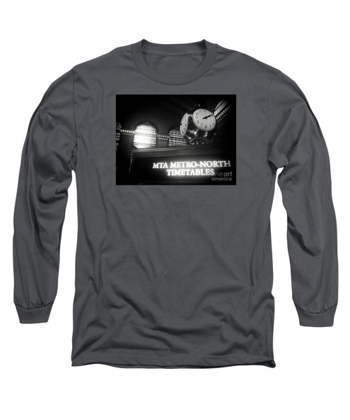 On Time At Grand Central Station Long Sleeve T-Shirt by James Aiken