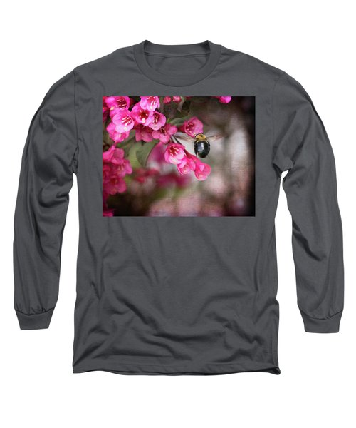 On Wine And Roses Weigela - 2 Long Sleeve T-Shirt by Debra Martz