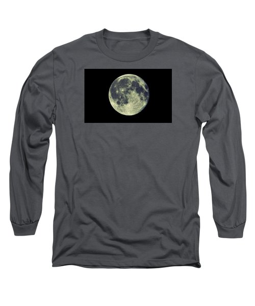 Long Sleeve T-Shirt featuring the photograph Once In A Blue Moon by Candice Trimble