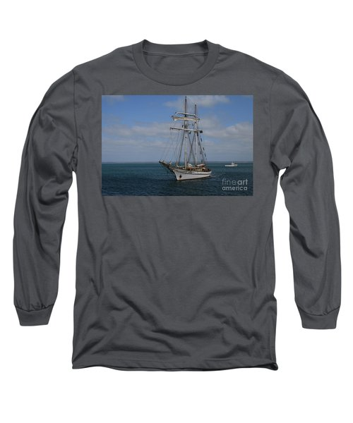 Long Sleeve T-Shirt featuring the photograph Approaching Kingscote Jetty by Stephen Mitchell