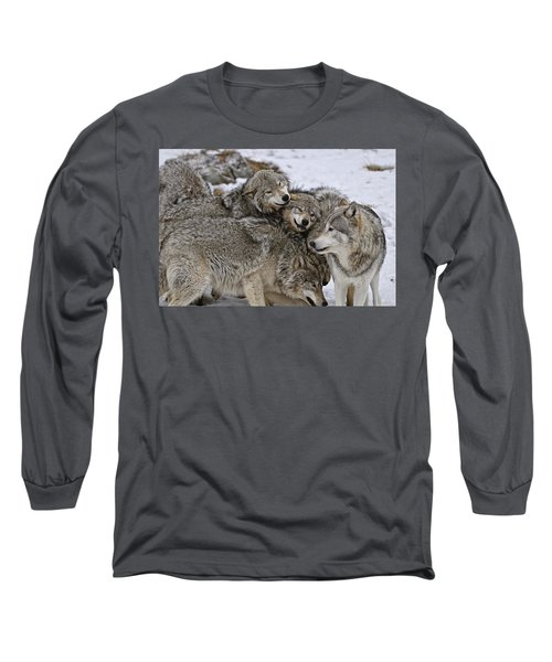 Long Sleeve T-Shirt featuring the photograph One Big Happy Family by Michael Cummings