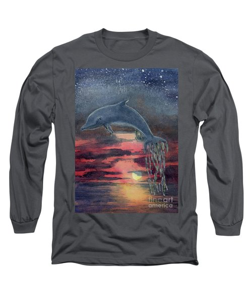 One Last Jump Long Sleeve T-Shirt by Randy Sprout