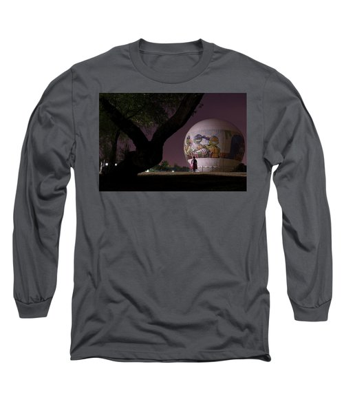 Long Sleeve T-Shirt featuring the photograph One Peculiar Night... by Dubi Roman