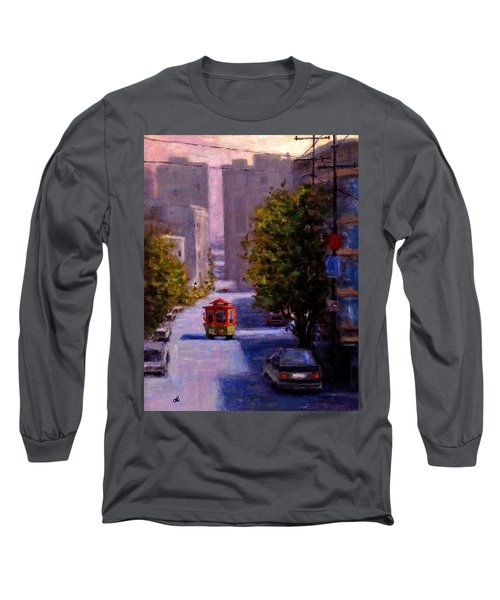 One Quiet Afternoon In San Francisco.. Long Sleeve T-Shirt by Cristina Mihailescu