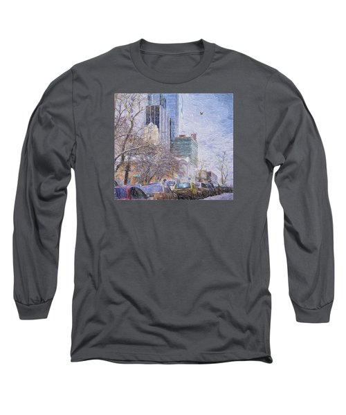 Long Sleeve T-Shirt featuring the photograph One Winter Day by Vladimir Kholostykh