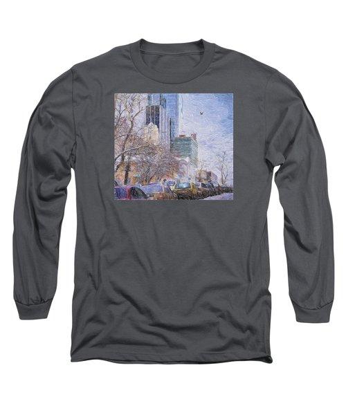 One Winter Day Long Sleeve T-Shirt by Vladimir Kholostykh