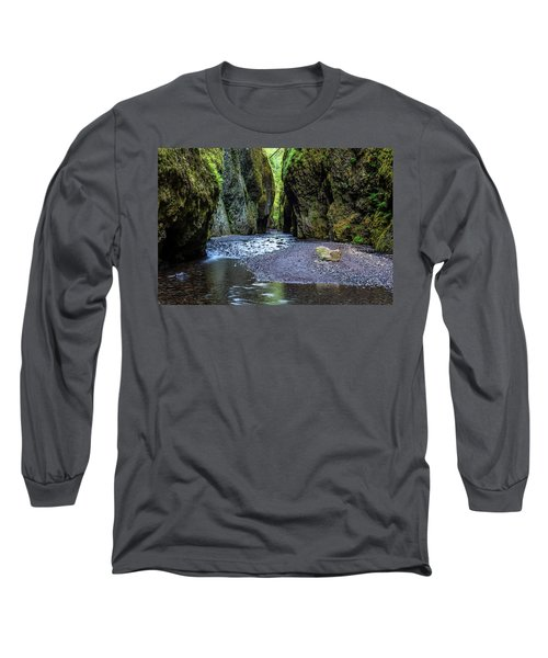 Long Sleeve T-Shirt featuring the photograph Oneonta Gorge by Pierre Leclerc Photography