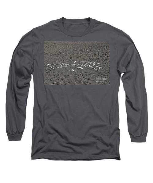 Only Leave Footprints Long Sleeve T-Shirt