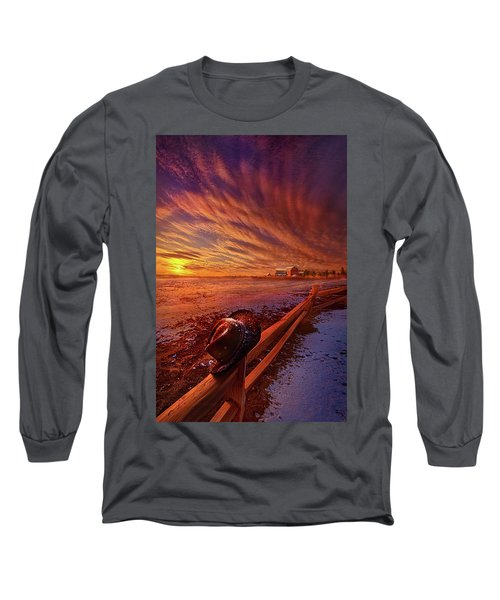 Long Sleeve T-Shirt featuring the photograph Only This Moment In Between Before And After by Phil Koch