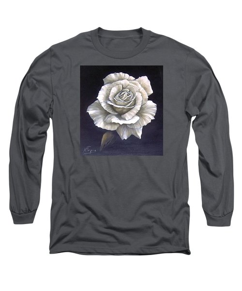 Opened Rose Long Sleeve T-Shirt by Natalia Tejera