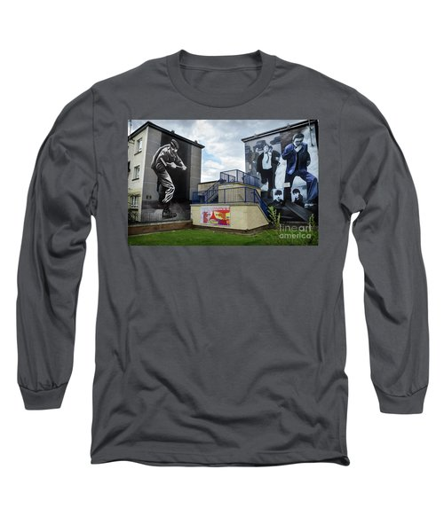 Long Sleeve T-Shirt featuring the photograph Operation Motorman Mural In Derry by RicardMN Photography