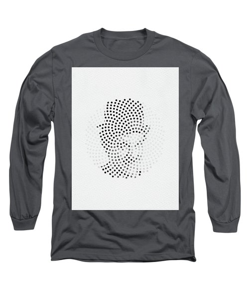 Long Sleeve T-Shirt featuring the digital art Optical Illusions - Iconical People 2 by Klara Acel